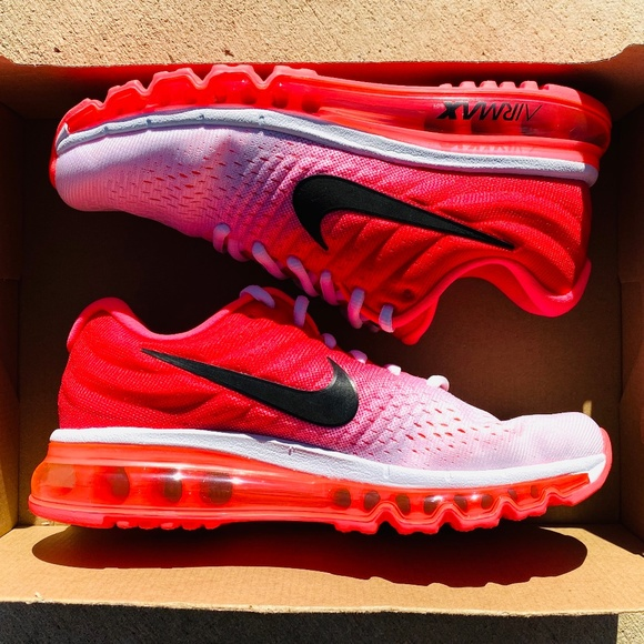 Nike Air Max 2017 White Hot Punch Running Shoes